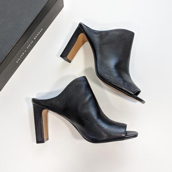 Steve Madden Womens Jordan Leather Closed Toe Mules